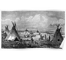 Native American Scene Poster