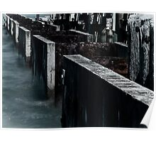 seawall detail Poster
