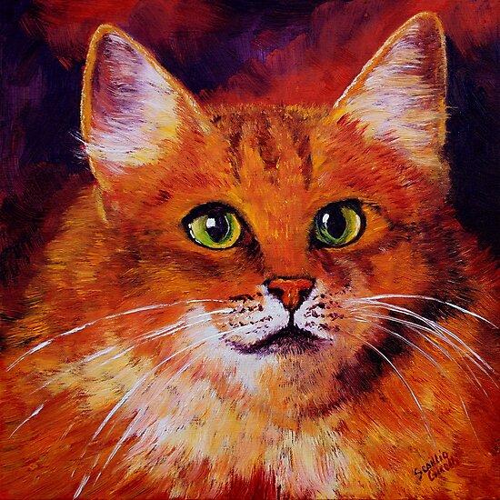 Longhaired Ginger Cat by sesillie