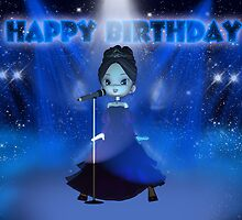 Singing Deva Moonies Cutie Pie Birthday Card by Moonlake