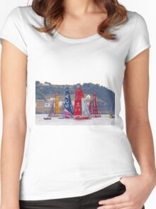 volvo ocean race. teams Women's Fitted Scoop T-Shirt