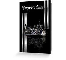Motorbike Stylish Birthday Card Greeting Card