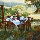 The Outdoor Gathering by Helena Bebirian