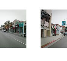 Melrose Avenue near Gardner Street, Melrose District, Los Angeles, California, USA...narrowed. by David Yoon