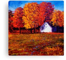 White House in the Maples Canvas Print