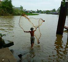 Fishing in Mekong - Vietnam by biancamarks