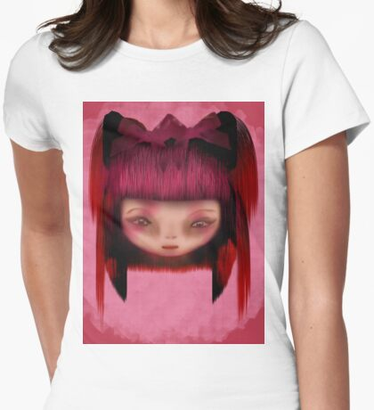 Pink Shadow Womens Fitted T-Shirt