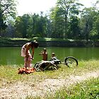 Kids swimming at bath ruins - Bayan, Cambodia by biancamarks