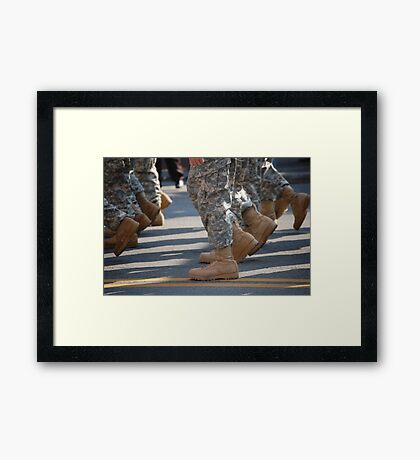 Marching Boots Framed Print