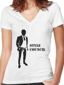 Business - Style Council Women's Fitted V-Neck T-Shirt
