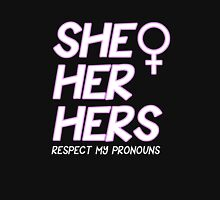 Respect My Pronouns Female Womens Fitted T-Shirt