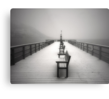 The Winter Pier Metal Print