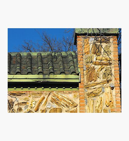 Roof and Stonework Patterns Photographic Print