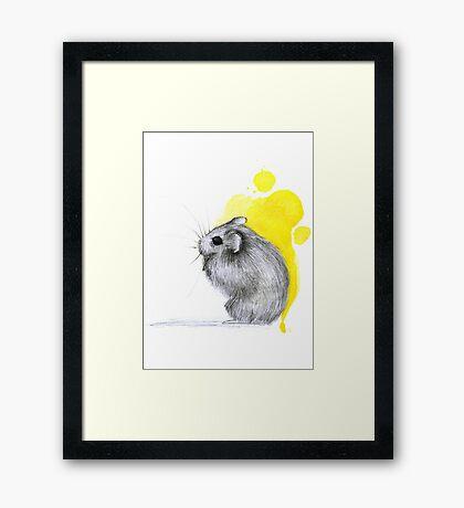 Hamster Watercolour Framed Print