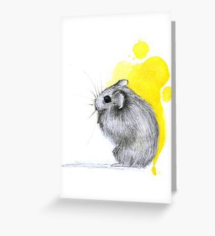 Hamster Watercolour Greeting Card