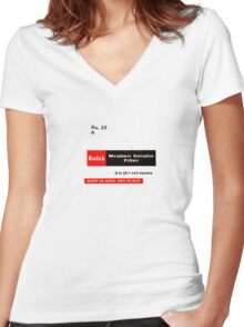 Kodak No. 25 A Women's Fitted V-Neck T-Shirt