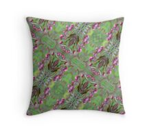 blooming pattern Throw Pillow