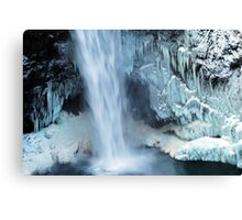 Frozen Winter Falls Canvas Print