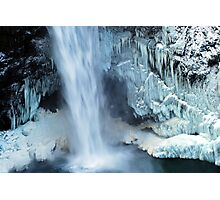 Frozen Winter Falls Photographic Print