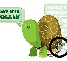 Keep Rollin Turtle by FuShark