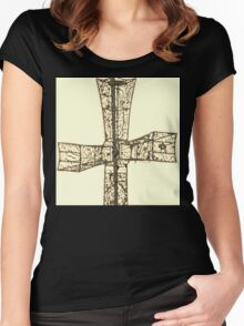 wire cross Women's Fitted Scoop T-Shirt