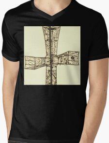 wire cross Mens V-Neck T-Shirt