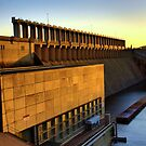 hume weir wall by dmaxwell