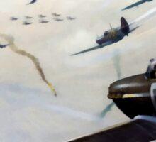 WW2 Vintage Propaganda Poster Art - Spitfire Intercept Sticker