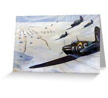 WW2 Vintage Propaganda Poster Art - Spitfire Intercept Greeting Card