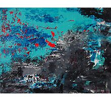Abstract /Turquoise inclusion Photographic Print