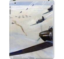 WW2 Vintage Propaganda Poster Art - Spitfire Intercept iPad Case/Skin