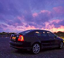 Ravenmobile at Sunset by TomRaven