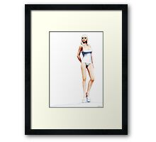 ..A study in white.. Framed Print