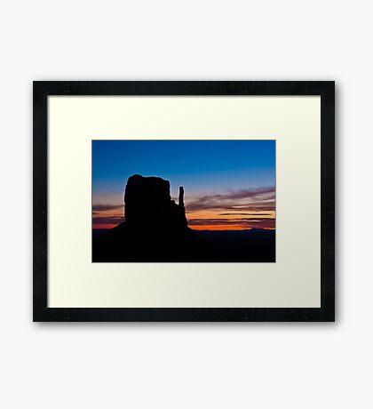 West Mitten Silhouette Framed Print