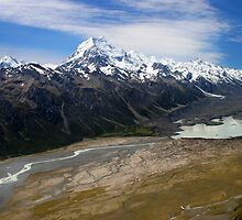 Aoraki, and Tasman Lake. by Andy Newman