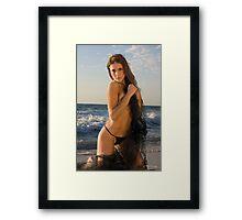 Beach Girl 1 Framed Print
