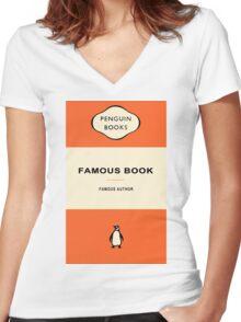 Penguin Books Women's Fitted V-Neck T-Shirt