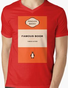 Penguin Books Mens V-Neck T-Shirt