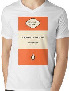 Penguin Books Mens V-Neck T-Shirt