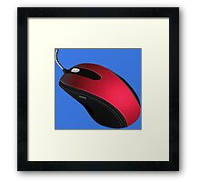 RED MOUSE Framed Print