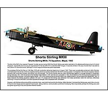 Short Stirling MKIII Profile Photographic Print