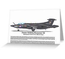 Hawker Siddeley Buccaneer S2a Profile Greeting Card
