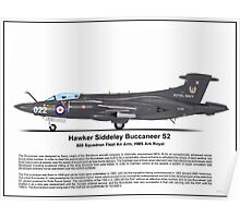 Hawker Siddeley Buccaneer S2a Profile Poster