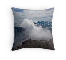 Mt Kerinci summit, Sumatra Indonesia Throw Pillow