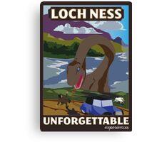 Visit Loch Ness - Brown Canvas Print