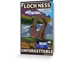 Visit Loch Ness - Brown Greeting Card
