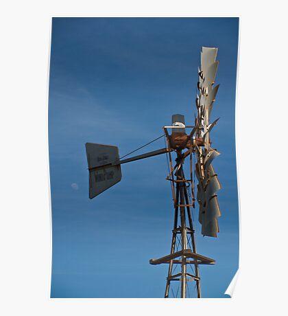 Windmill, White Peak Rd, Geraldton Poster