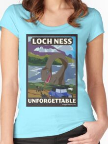 Visit Loch Ness - Brown Women's Fitted Scoop T-Shirt