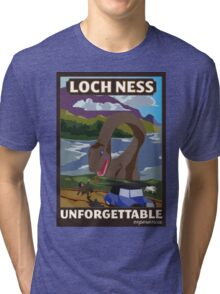 Visit Loch Ness - Brown Tri-blend T-Shirt