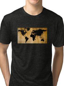 World Map Tri-blend T-Shirt